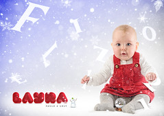 """""""Feliz NAVIDAD"""" for everyone (Paulo Brandão) Tags: christmas red baby snow natal navidad rojo nieve vermelho niña neve bebe layra"""