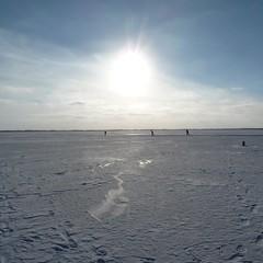 Zuidlaardermeer (Michiel Thomas) Tags: schnee winter sun snow holland ice frozen meer bevroren iceskating hiver sneeuw skating skaters groningen eis ijs sneew schaatsers meerwijck zuidlaardermeer