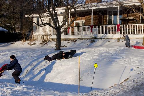 4:365 Frontyard sledding
