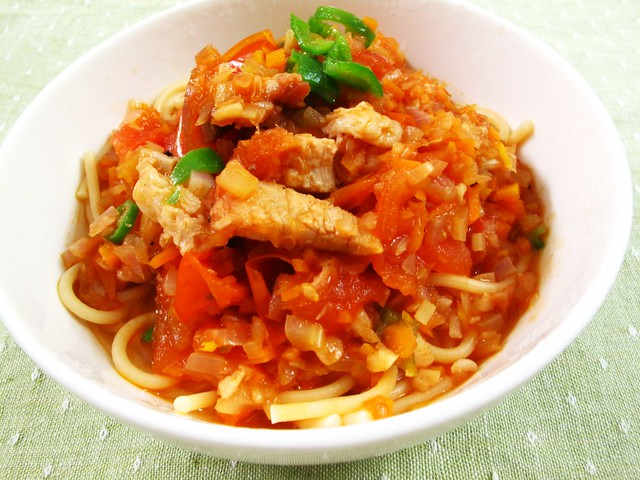 IMG_1719 烧肉意大利面 ,Roast Pork Spaghetti - New Recipe