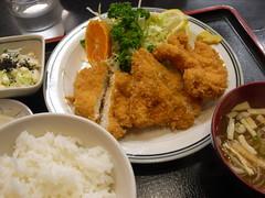 みよし食堂「チキンカツ定食」(750円)