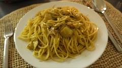 Spaghetti con Tonno e Carciofi