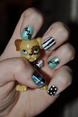 Monster High Frankie Stein Nails (Super Awesome Fairy Princess) Tags: dog fashion doll dolls barbie makeup nails nailart frankiestein monsterhigh watzit