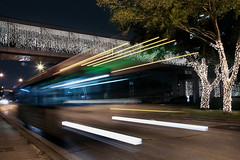 Houston Lights (karissa_lynne) Tags: hello christmas motion blur bus night lights moving driving texas interior smoke kitty houston equipment transportation domo amplifier rx7 audio rockford fd3s pfc strobes apexi fosgate p312 p3d412