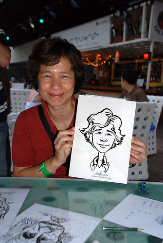 Caricature live sketching for VISA Beach Party 2010 -22