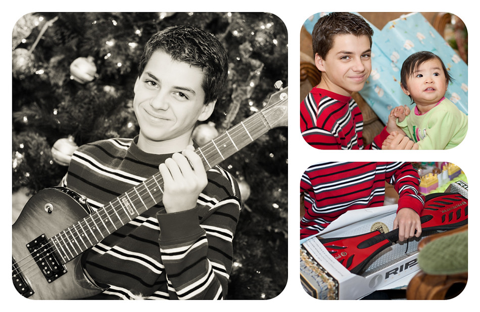 Nick Christmas Collage BW