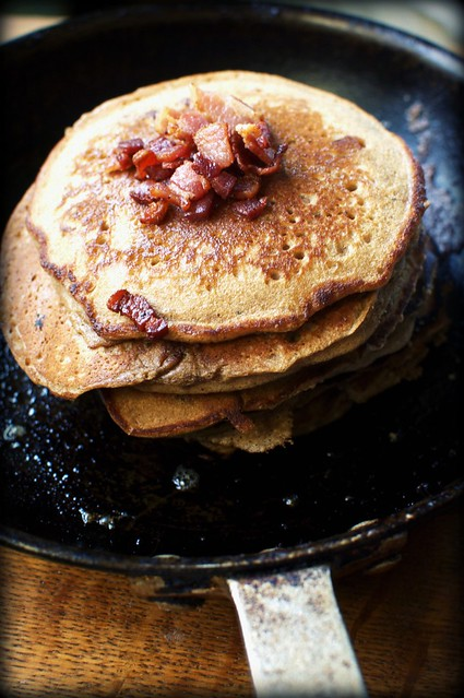 bacon gingerbread buttermilk pancakes
