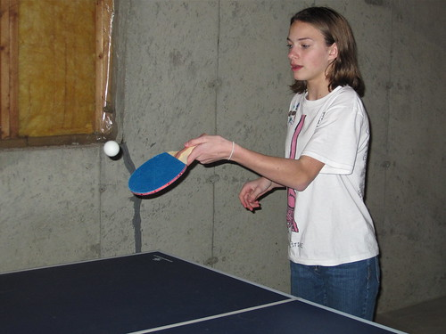playing ping pong