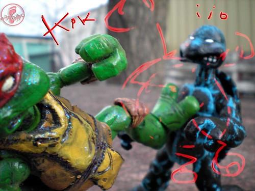 "WRESTLING RAPHAEL v. ""Rising Sun"" Donatello  v"