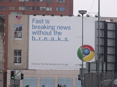 Google Chrome billboard - on Broad Street (ell brown) Tags: greatbritain england google birmingham unitedkingdom billboard westmidlands broadst birminghamcitycouncil googlechrome sheepcotest fastisbreakingnewswithoutthebreaks