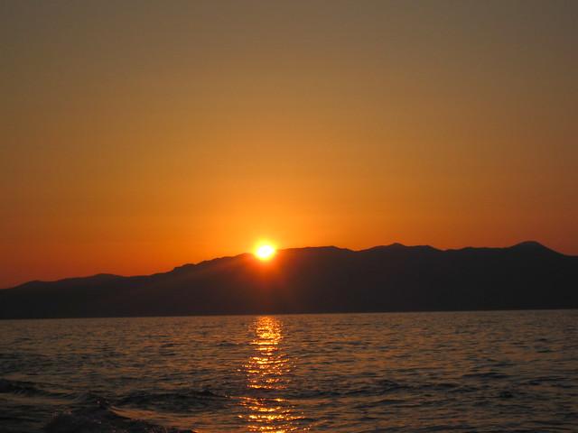 crete sunrising