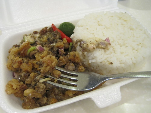 Crappy fast food sisig...