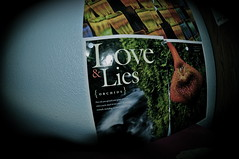 Love&lies (Monica Peglow) Tags: fish love wall magazine lens bedroom pages lies pins fisheye national geographic
