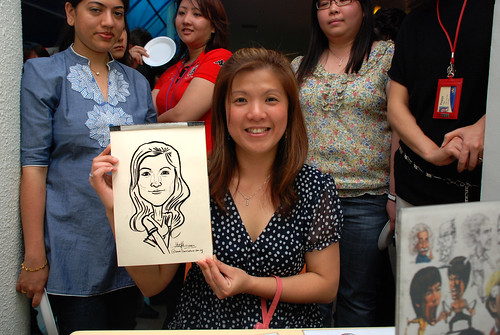 Caricature live sketching for BAT White Christmas Party 2010 - 21