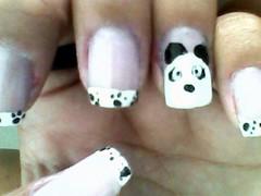 unhas (TáahGF) Tags: art panda nail fofo unha patinhas esmaltes francesinha