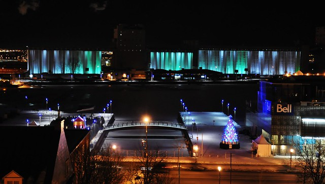 night in Quebec city