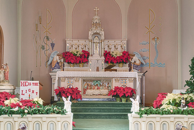 Saint Maurus Church, in Biehle, Missouri, USA - sanctuary