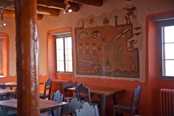 Painted Desert Inn Mural by Fred Kapotie