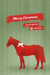 Gift Horse (Chris Pecora) Tags: christmas chris horse canada calgary studio office gift alberta bow ribbon merry pecora