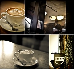 Barista @ Pearl District, Portland, Oregon (R. E. ~) Tags: food coffee caf oregon 35mm portland photography design cafe nikon holidays culture coffeeshop best eats barista 2010 baristapdx