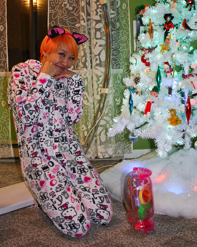Hello kitty onesie. My mother-in-law gave me this gag giftit's this