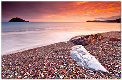 ligurian dusk (chris frick) Tags: sunset sea italy seascape dusk wideangle filter shore lee mediterraneansea finaleligure albenga allasio isolagallinara chrisfrick 09nd canoneos5dmark2 quinqueterre canonef1635mm28liiusm 075gndhard