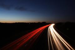 9634 M40 #11 (mwhcvt) Tags: longexposure colour speed canon lights traffic motorway fast trail warwickshire m40 lighttrail speedoflight 450d trafficstream mwhcvt