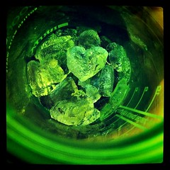 Heart of ice (Jannygirl) Tags: ice phone heart cell glowing atwork icecube courtesy jannys foodshape instagram