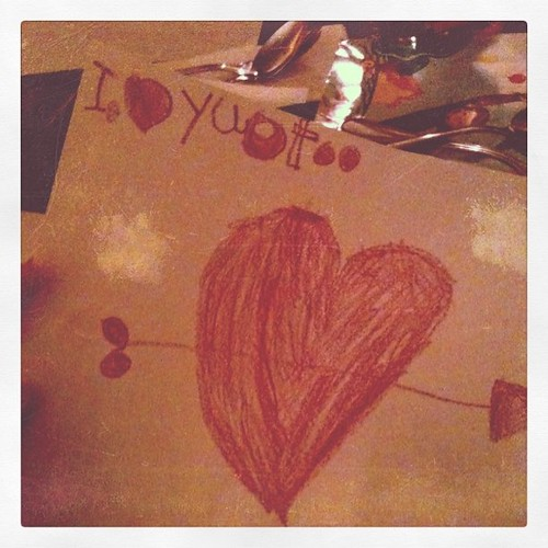 She wrote/drew this all on her own. #Love