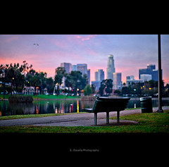 The Pursuit Of Happiness (Emmanuel_D.Photography) Tags: california park lake sunrise canon chair purple bright echo sit emmanuel astig ilovelosangeles 5dm2 dasalla