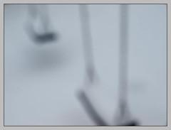 playground VIII (sulamith.sallmann) Tags: schnee winter white snow blur game berlin playground deutschland blurry play seasons time jahreszeit jahreszeiten unscharf freizeit deu spiel berlinwedding zeit unsharp spielplatz spielen schaukel verschwommen weis unschrfe sulamithsallmann
