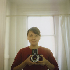 a sunday morning selfie (*Cinnamon) Tags: morning film sunday sp hasselblad500cm peelapart polaroidback fujifp100c instanst