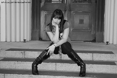 Amber steps (Erik Collette Photography) Tags: blackandwhite bw cute girl pose posed beautifull
