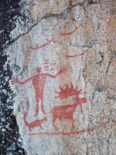 Pictographs at Hegman Lake