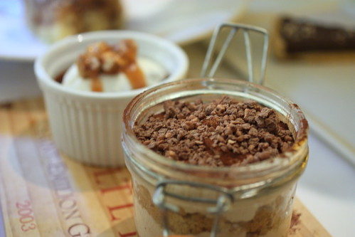 Manjari Chocolate Pot De Crème. Chestnut Tiramisu