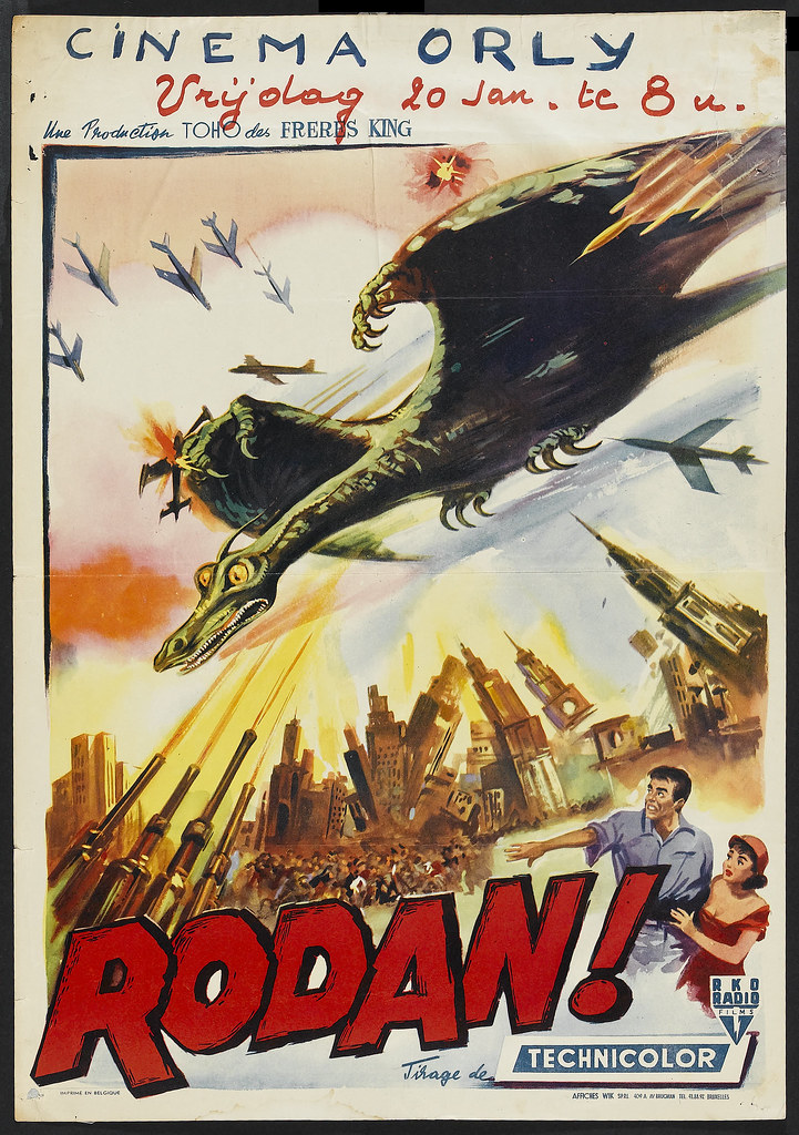 Rodan! The Flying Monster (RKO, 1957). Belgian