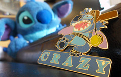 Crazy aren't you? (Swimmingneno) Tags: blue macro stitch disney cropped odc disneypin ourdailychallenge