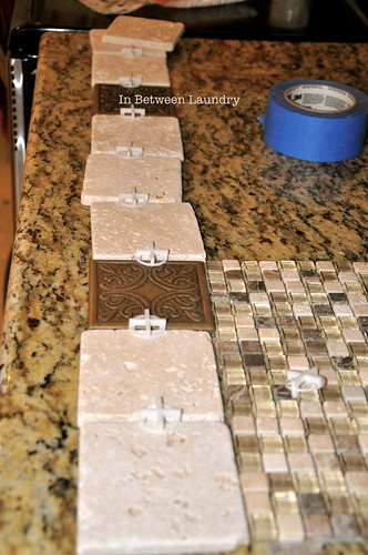 in between laundry tutorial how to install a mosaic tile backsplash