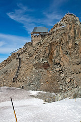 Grands Montets Tram house and stairs to lookout-glacier (Nathan A) Tags: travel france mountains alps fall adventure chamonix montblanc hautesavoie outoors chamonixmontblanc