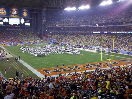 Auburn Marching Band during halftime of the BCS National Championship Game