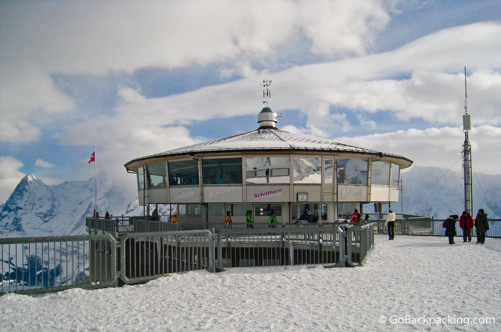 The rotating restaurant atop Schilthorn