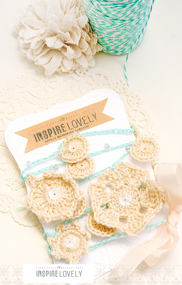 lovely and shimmery crochet garland