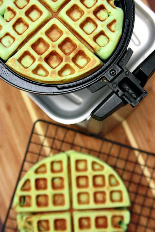 pandan waffle