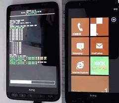 HTC HD2 running WP7