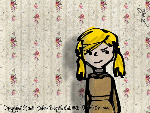 Daily Doodle: Wallpaper Girl