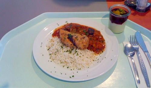 Hähnchenbrust auf Ratatouillegemüse / Chicken breast with ratatoullie