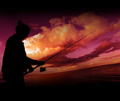 Fishing For Colour (rhyspope) Tags: ocean morning pink light sunset sea summer sky orange woman cloud fish black color colour sexy beach girl beautiful weather silhouette sport lady sunrise fun evening coast fishing marine colorful paradise afternoon hand purple arm earth border wave atmosphere australia brisbane coastal qld queensland rod catch scarborough recreation colourful aussie redcliffe reel rhyspope