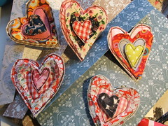 Hearts and Love in my Table :) (Susana Tavares) Tags: portrait art love painting hearts blog prints stvalentinesday diadosnamorados mixedmediaart susanatavares aquarellepaper