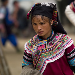 Yunnan Yi minority woman  - China (Eric Lafforgue) Tags: a0006672 china minority woman chine tribal cloth costume  tribe tribo tribu tribes ethnic ethnology ethnie culture tradition cina   chiny in   na     kina  kna  kitajska    tiongkok trungquc tsina xina  chin