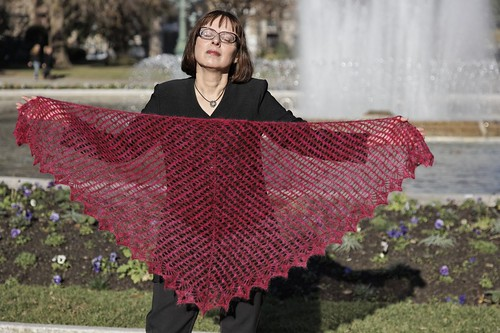 Streak of Lightning Shawl